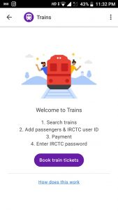Book Your Train Seat With Google Pay